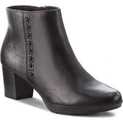 Botki MARCO TOZZI - 2-25388-31 Black Ant.Comb 096. Czarne buty zimowe damskie marki Marco Tozzi, z materiału, na obcasie. Za 279,90 zł.