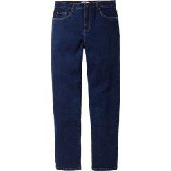 Dżinsy ze stretchem Classic Fit Tapered bonprix ciemnoniebieski. Niebieskie jeansy męskie regular bonprix. Za 79,99 zł.