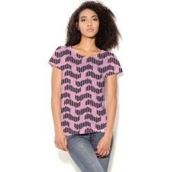 Colour Pleasure Koszulka damska CP-034  30  różowo-czarna  r. XL-XXL. T-shirty damskie Colour pleasure, xl. Za 70,35 zł.