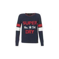 Swetry Superdry  VARSITY INTARSIA KNIT. Niebieskie swetry klasyczne damskie Superdry. Za 278,10 zł.