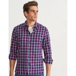 Koszula w kratę slim fit - Granatowy. Niebieskie koszule męskie slim marki QUECHUA, m, z elastanu. Za 99,99 zł.