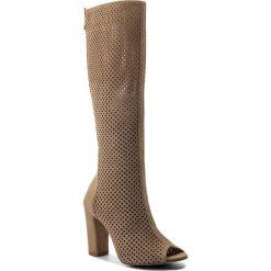 Kozaki R.POLAŃSKI - 0927 Beż Zamsz. Czarne buty zimowe damskie marki Kazar, ze skóry, przed kolano, na wysokim obcasie, na obcasie. Za 529,00 zł.