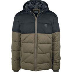 Urban Classics Hooded 2-Tone Puffer Jacket Kurtka zimowa oliwkowy/czarny. Niebieskie kurtki męskie pikowane marki Urban Classics, l, z okrągłym kołnierzem. Za 244,90 zł.