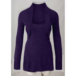 Sweter z bolerkiem 2 w 1 bonprix lila. Fioletowe swetry klasyczne damskie bonprix. Za 79,99 zł.