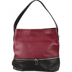 Skórzana torebka w kolorze bordowo-czarnym - 30 x 30 x 13 cm. Czerwone torebki klasyczne damskie Classe Regina, w paski, z materiału. W wyprzedaży za 363,95 zł.