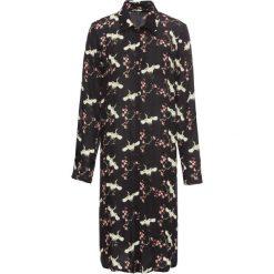 Płaszcz koszulowy z kreszowanego materiału w kwiaty bonprix czarny w kwiaty. Czarne płaszcze damskie bonprix, w kwiaty, z materiału. Za 79,99 zł.