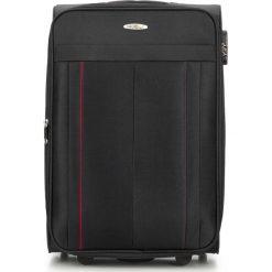 Walizka średnia V25-3S-272-10. Czarne walizki marki Wittchen, z gumy, duże. Za 159,00 zł.