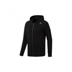 Bluzy Reebok Sport  Bluza z kapturem Elements French Terry Full Zip. Czarne bluzy męskie rozpinane Reebok Sport, l, z kapturem. Za 199,00 zł.