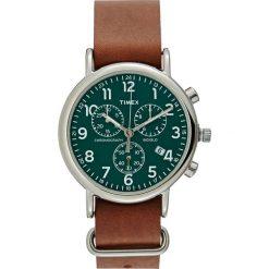 Timex THE WEEKENDER Zegarek chronograficzny green/brown. Brązowe zegarki męskie Timex. Za 419,00 zł.