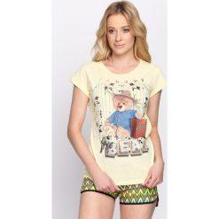 Bluzki, topy, tuniki: Żółty T-shirt Cute Bear