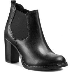 Botki CARINII - B2321 861-000-POL-857. Czarne buty zimowe damskie marki Carinii, z gumy, eleganckie, na wysokim obcasie. W wyprzedaży za 239,00 zł.
