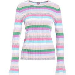 Swetry klasyczne damskie: FTC Cashmere STREIFENTROMPETE Sweter rose