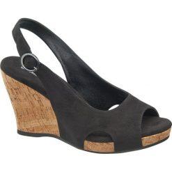 Sandały damskie: sandały na koturnie Graceland czarne