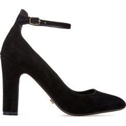 Buty ślubne damskie: Skórzane czółenka z paskiem na kostkę Aalto