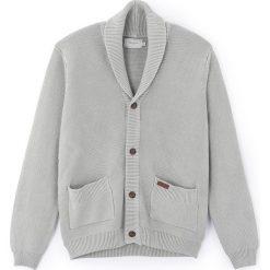 Swetry damskie: Kardigan z dekoltem w serek