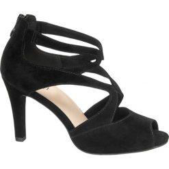 Rzymianki damskie: sandałki na obcasie 5th Avenue czarne