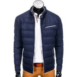 KURTKA MĘSKA PRZEJŚCIOWA PIKOWANA C209 - GRANATOWA. Białe kurtki męskie pikowane Ombre Clothing, m, z nylonu. Za 79,00 zł.