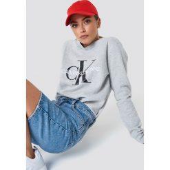 Calvin Klein Bluza Core Monogram Logo - Grey. Szare bluzy damskie marki Calvin Klein. Za 404,95 zł.