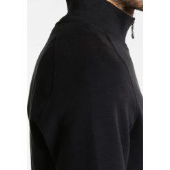 Swetry rozpinane męskie: Lyle & Scott FUNNEL NECK ZIP THROUGH  Kardigan true black