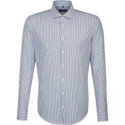 Koszule męskie na spinki: Koszula – Slim fit – w kolorze biało-niebieskim