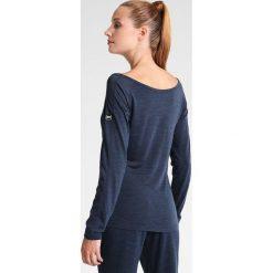 Super.natural ESSENTIAL SCOOP NECK Bluzka z długim rękawem navy blazer melange. Niebieskie topy sportowe damskie super.natural, xs, z materiału, sportowe, z długim rękawem. W wyprzedaży za 153,45 zł.