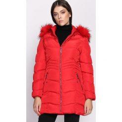 Czerwona Kurtka Say-So. Czerwone kurtki damskie pikowane Born2be, na zimę, l. Za 199,99 zł.