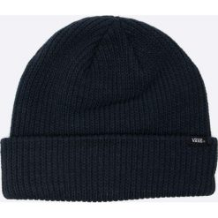 Vans - Czapka. Szare czapki zimowe męskie marki Vans, z gumy, na sznurówki. W wyprzedaży za 39,90 zł.