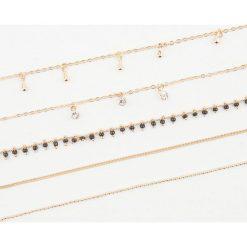 Naszyjniki damskie: NA-KD Accessories Naszyjnik z łańcuszkami – Gold