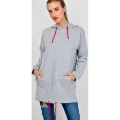 Bluzy rozpinane damskie: Bluza tunika z kapturem
