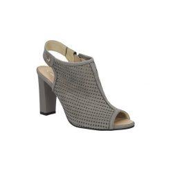 Rzymianki damskie: Sandały Casu  Sandały ażurowe na słupku  302