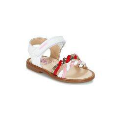 Sandały Dziecko  Pablosky  BUJAD. Białe sandały dziewczęce marki Born2be, z materiału, na sznurówki. Za 159,20 zł.