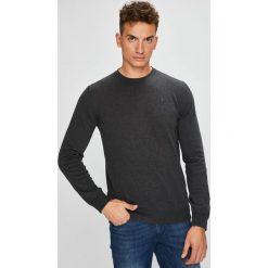 Trussardi Jeans - Sweter. Czarne swetry klasyczne męskie Trussardi Jeans, l, z bawełny, z okrągłym kołnierzem. W wyprzedaży za 369,90 zł.