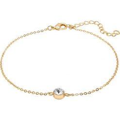 Bransoletki damskie: Pozłacana bransoletka z kryształem Swarovski na kostkę