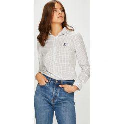 U.S. Polo - Koszula. Szare koszulki polo damskie U.S. Polo, s, z bawełny, casualowe, z włoskim kołnierzykiem, z długim rękawem. W wyprzedaży za 279,90 zł.