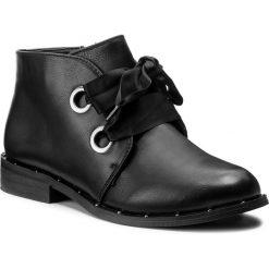 Botki JENNY FAIRY - WS16035-13A Czarny. Czarne buty zimowe damskie marki Jenny Fairy, ze skóry ekologicznej, na obcasie. Za 99,99 zł.