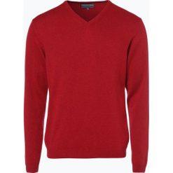 Finshley & Harding - Sweter męski z kaszmiru i jedwabiu, czerwony. Czerwone swetry klasyczne męskie marki Finshley & Harding, m, z dzianiny. Za 399,95 zł.