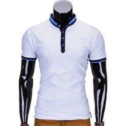 T-shirty męskie: T-SHIRT MĘSKI Z NADRUKIEM S765 – BIAŁY