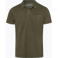 Napapijri - Męska koszulka polo – Noyilo, zielony. Szare koszulki polo marki Napapijri, l, z materiału, z kapturem. Za 199,95 zł.