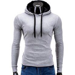 Bluzy męskie: BLUZA MĘSKA Z KAPTUREM CAMILO – SZARA