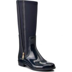 Kalosze TOMMY HILFIGER - Odette 13R FW0FW01601 Midnight 403. Czarne buty zimowe damskie marki TOMMY HILFIGER, z bawełny. W wyprzedaży za 299,00 zł.