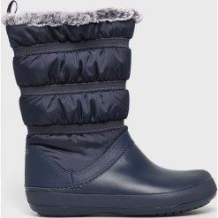 Crocs - Śniegowce. Szare śniegowce damskie Crocs, z gumy. Za 319,90 zł.