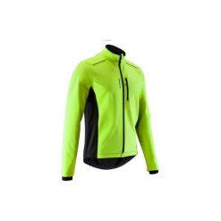 Kurtka zimowa na rower szosowy ROADCYCLING 100 męska. Żółte kurtki męskie zimowe marki B'TWIN. Za 99,99 zł.