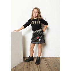 Blukids - Sweter dziecięcy 98-128 cm. Szare swetry klasyczne damskie Blukids, z dzianiny, z okrągłym kołnierzem. W wyprzedaży za 59,90 zł.