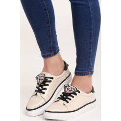 Beżowe Buty Sportowe Daimond. Brązowe buty sportowe damskie marki NEWFEEL, z gumy. Za 39,99 zł.
