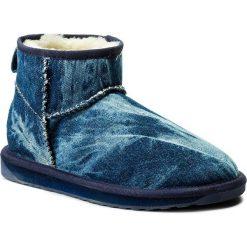 Buty EMU AUSTRALIA - Stinger Denim Micro W11376 Indigo Distress. Niebieskie buty zimowe damskie EMU Australia, z denimu. W wyprzedaży za 339,00 zł.