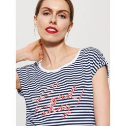 T-shirt z napisem - Wielobarwn. Niebieskie t-shirty męskie marki House, m. Za 39,99 zł.