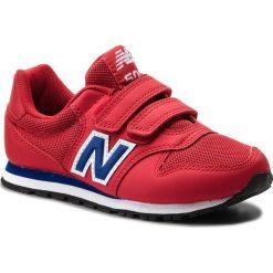 Trampki chłopięce: Sneakersy NEW BALANCE – KV500YEY Czerwony