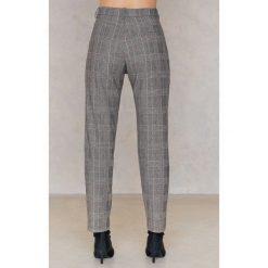 Spodnie z wysokim stanem: Samsoe & Samsoe Spodnie Stamford – Black,Grey,Multicolor