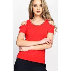 T-shirty damskie: Czerwony T-shirt Lovely Gaps