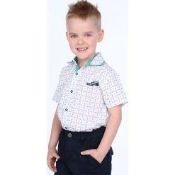 Koszula chłopięca krótki rękawek biała NDZ7462. Białe koszule chłopięce z krótkim rękawem Fasardi. Za 49,00 zł.